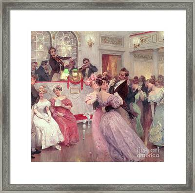 The Ball Framed Print by Charles Wilda