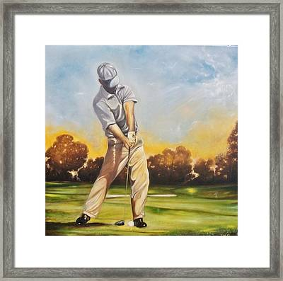 Framed Print featuring the painting The Ball by Emery Franklin
