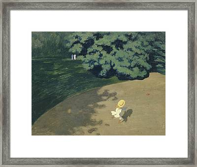 The Ball Framed Print by Felix Vallotton