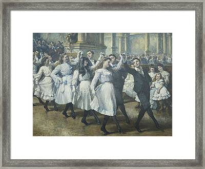 The Ball Framed Print by Jean Mayne