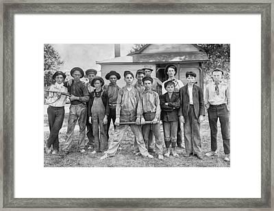 The Ball Team Framed Print