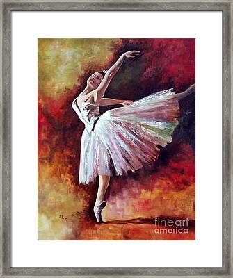The Dancer Tilting - Adaptation Of Degas Artwork Framed Print