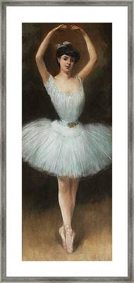 The Ballet Dancer By Pierre Carrier Belleuse 1932 Framed Print by Movie Poster Prints