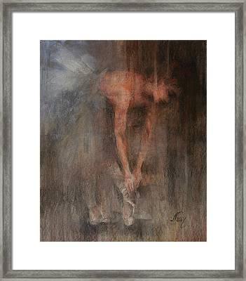 The Ballet Dancer Swan Lake Framed Print by Elisabeth Nussy Denzler von Botha