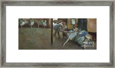 The Ballet Rehearsal, 1891 Framed Print by Edgar Degas