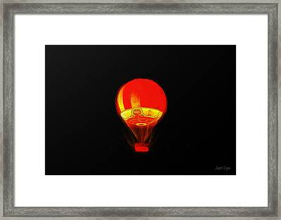 The Balloon At Night - Da Framed Print by Leonardo Digenio
