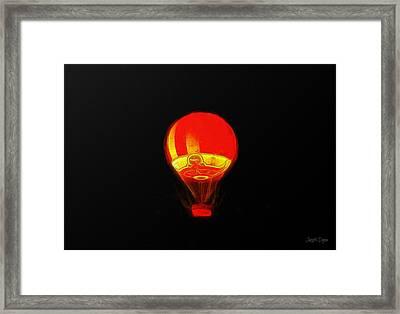 The Balloon At Night - Pa Framed Print by Leonardo Digenio