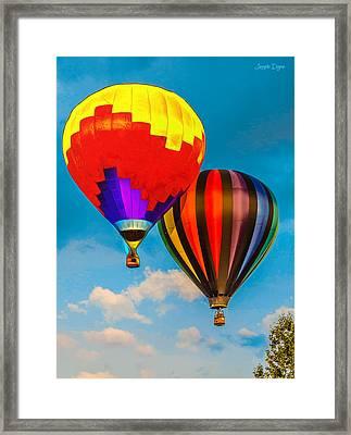 The Balloon Duet - Pa Framed Print