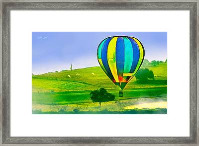 The Balloon In The Farm - Pa Framed Print