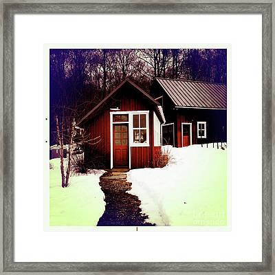 The Bally House Greenhouse Framed Print by Kevyn Bashore