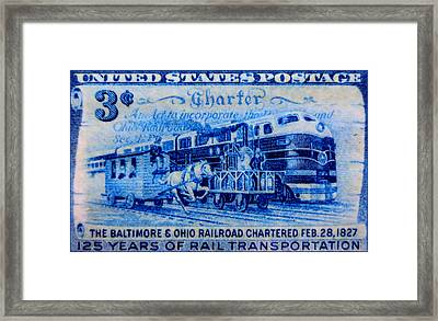 The Baltimore And Ohio Railroad Charter Stamp Framed Print