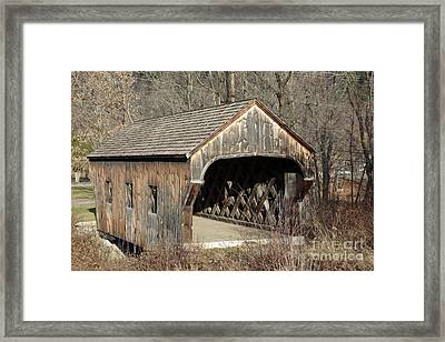 The Baltimore Covered Bridge - Springfield Vermont Usa Framed Print by Erin Paul Donovan