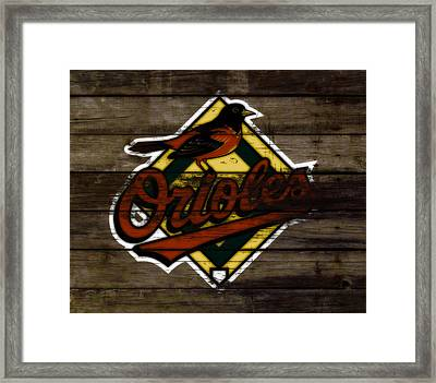 The Baltimore Orioles W1                          Framed Print by Brian Reaves