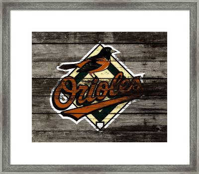 The Baltimore Orioles W2                          Framed Print