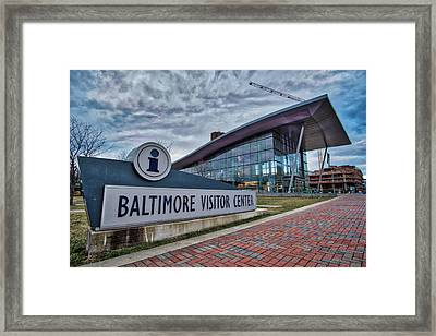 Framed Print featuring the photograph The Baltimore Visitors Center by Mark Dodd