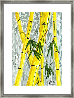 The Bamboo Forest Framed Print