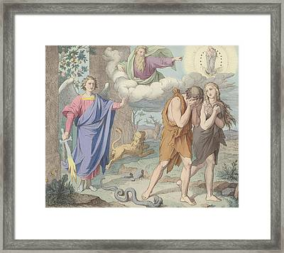 The Banishment From Paradise Framed Print by German School