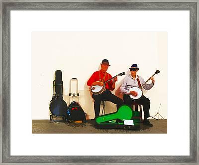 The Banjo Dudes Framed Print