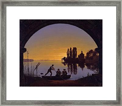The Banks Of The Spree At Stralau Framed Print by Karl Friedrich Schinkel