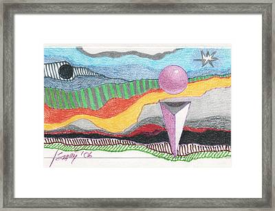 Framed Print featuring the drawing The Bannishment Of Evil by Rod Ismay