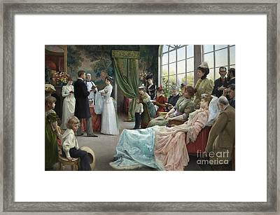 The Baptism, 1892 Framed Print by Julius Leblanc Stewart