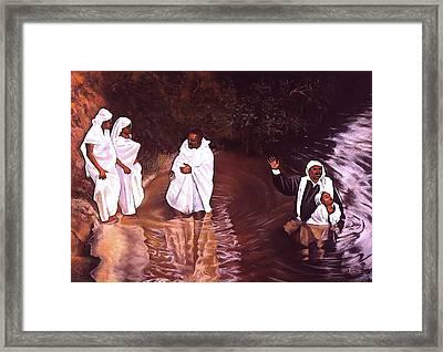 The Baptism Framed Print by Curtis James