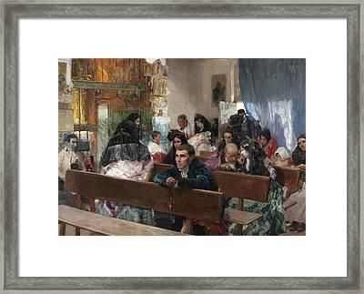 The Baptism Framed Print by Joaquin Sorolla