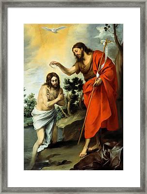 The Baptism Of Christ Framed Print by Bartolome Esteban Murillo