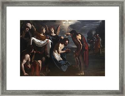 The Baptism Of Christ Framed Print by Emilio Savonanzi