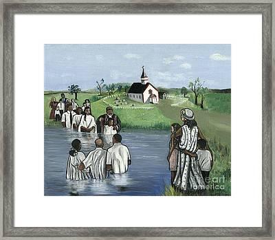 The Baptism Framed Print by Toni  Thorne