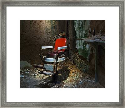 The Barber Chair Framed Print by Eric Harbaugh