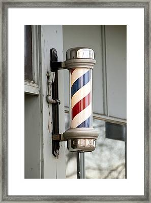 The Barber Shop 4 Framed Print