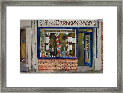 The Barber Shop Framed Print by Victoria Heryet