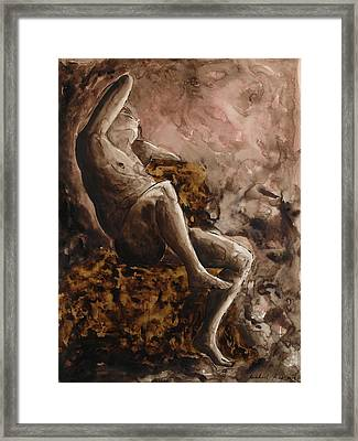 The Barberini Faun Framed Print by Michael  Price
