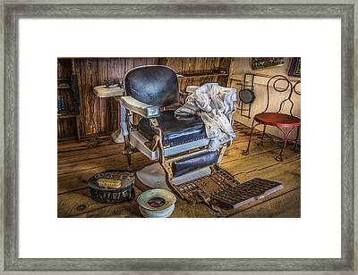 The Barber's Chair Framed Print by Debra and Dave Vanderlaan