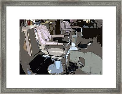 The Barber's Chairs Framed Print by David Lee Thompson