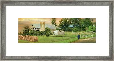 The Barefoot Farm Boy Framed Print