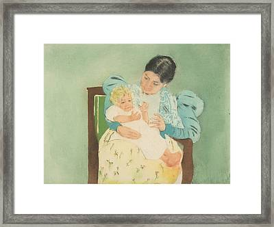 The Barefooted Child Framed Print by Mary Cassatt