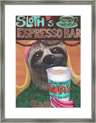 The Barista Framed Print by Catherine G McElroy