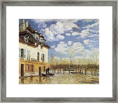 The Bark During The Flood Port Marly Framed Print