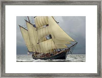 The Barkentine Loa Framed Print by Robert Lacy