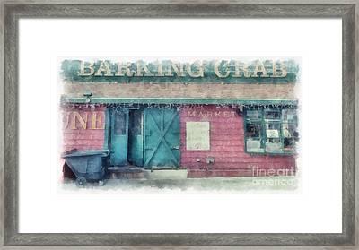 The Barking Crab Boston Framed Print