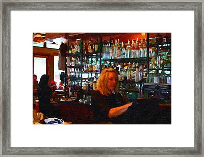 The Barmaid Framed Print by Wingsdomain Art and Photography