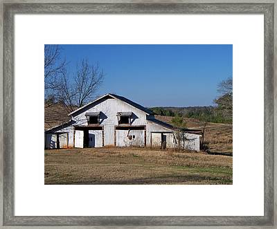 Framed Print featuring the photograph The Barn by Betty Northcutt