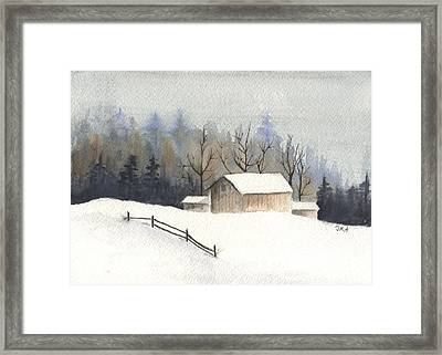 The Barn Framed Print by Jan Anderson