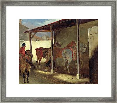 The Barn Of Marechal-ferrant Framed Print by Theodore Gericault