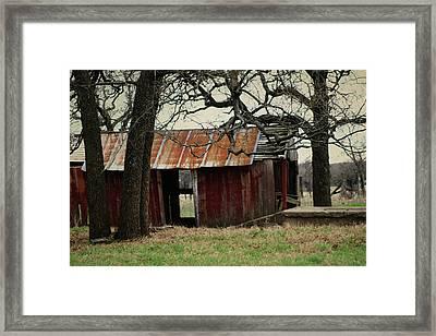 The Barn Out Back Framed Print