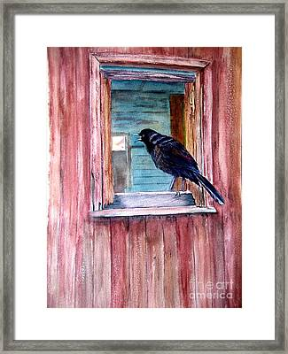 The Barn Framed Print by Patricia Pushaw