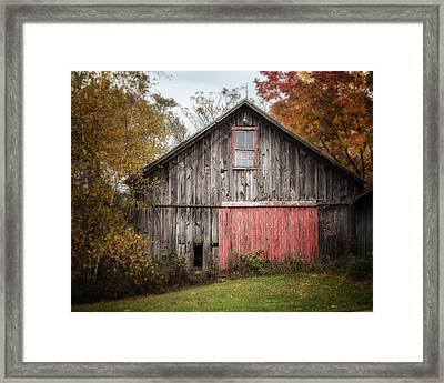 The Barn With The Red Door Framed Print by Lisa Russo