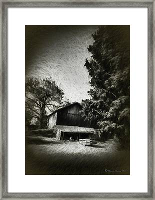 The Barn Yard Wagon Framed Print by Marvin Spates